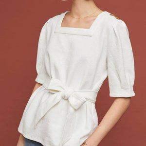 Anthropologie Current Air Barnette Puff-Sleeve Top